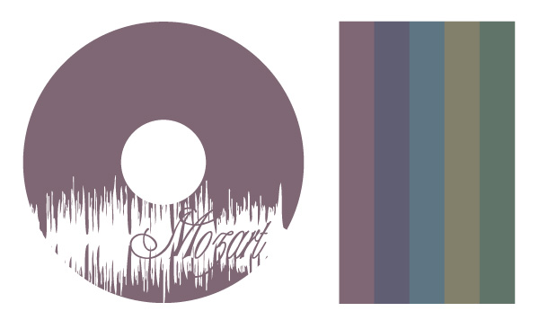 Mozard CD Label & Color Palette