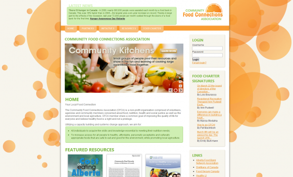 Community Food Connections Association - Home Page