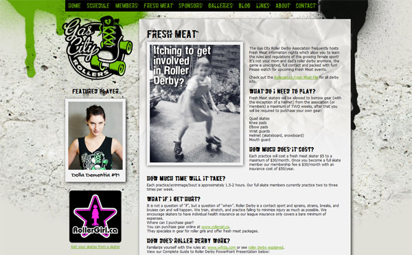 "Gas City Rollers - ""Fresh Meat"" Info Page"