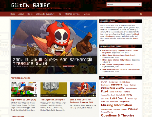 Glitch Gamer - Home Page