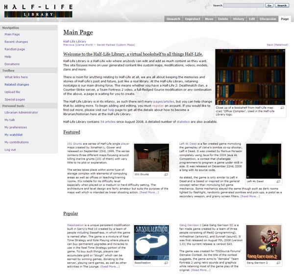 Half-Life Library - Main Page