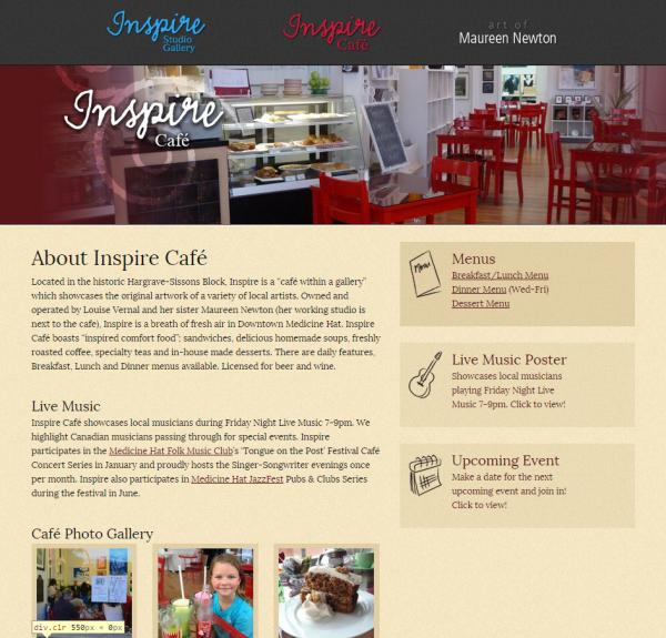 Inspire Café Page