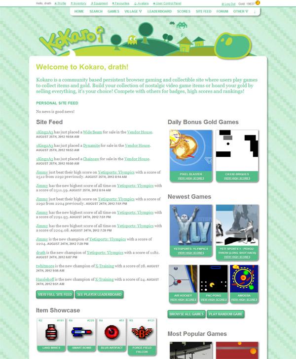 Kokaro Home Page