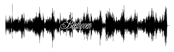 "Beethoven Sound Wave - ""Sonata in A Major"""